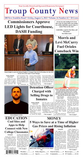 image of print edition front page